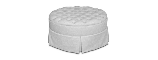 Ottomans and Stools - Diamond Buttoned